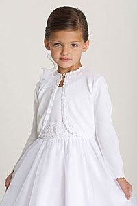 Flower Girl Dresses - Us Angels White Sweater-Style 515