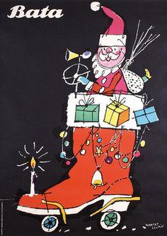 Bata Santa: poster by Herbert Leupin, 1950