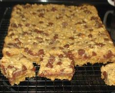 M. Chocolate Peanut Butter Bars (little dry. Use less on top)