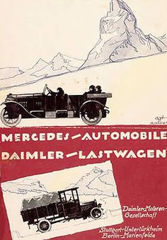 Mercedes cars and Daimler trucks in 1922