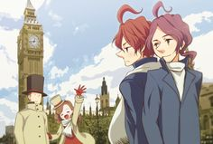 Image result for professor layton alfendi and flora