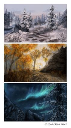 One of the many reasons why I love Skyrim Skyrim Speedpaintings by Isriana