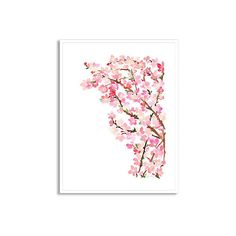 Yao Cheng Cherry Blossom on Lake Paintings ($189) ❤ liked on Polyvore