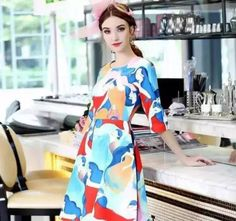 Fashion Style: Watercolour Printing Style Dress //sweetiee-love