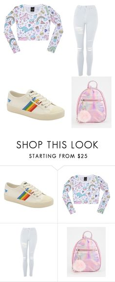 """""""Untitled #13"""" by nesiv ❤ liked on Polyvore featuring Gola and Topshop"""