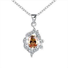 Petite Yellow Citrine Jewels Spiral Drop Necklace Women's