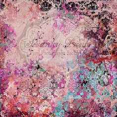 Pink Colourful Grunge Damask - Oz Backdrops and Props