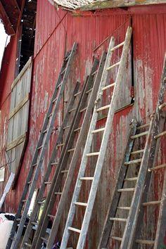 ladders . barn . barn sale . via therustedchain