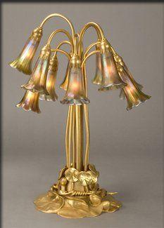Tiffany Lily Shaded Table Lamp