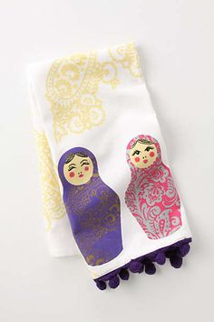 Nesting Doll Dishtowel - thinking of turning it into an apron somehow