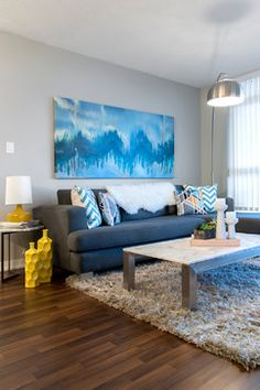 i have these pillows!! | Timeless with a Modern Edge - Contemporary - Living Room - Vancouver - Heather Merenda