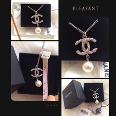 Authentic Chanel CC Logo Necklace 100% Authentic Classic Chanel CC Logo Diamond Necklace with CC Pendent ❤️❤️❤️ Gorgeous piece purchased via Chanel Boutique in France, comes with original box. This piece is classic and chic you can wear for years, definitely worth to invest :) No need to say more!! No trades, no low-balling, price FIRM unless you can P me. Thank you! CHANEL Jewelry Necklaces