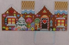 ED-17003 needlepoint 3-d gingerbread house
