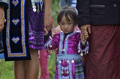 Beautiful H'mong attire in northern #Laos