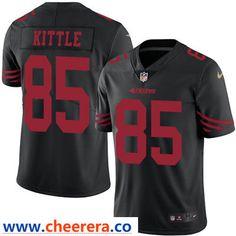 b8216ee5e Nike San Francisco 49ers  85 George Kittle Black Men s Stitched NFL Limited  Rush Jersey Matt