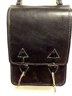 Rugged Design Handmade Raw Black Leather Briefcase Messenger Travel Bag Morocco