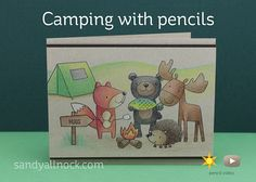 Camping with pencils - supplies to take with you