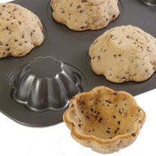 Cookie bowls! Bake cookie dough over bottom of a muffin tin for ice cream bowls! GENIUS!