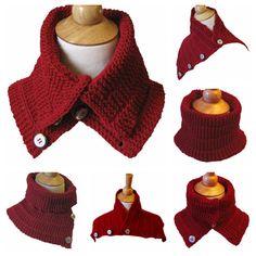 Knitting Pattern Convertible Cowl Capelet Scarf by KnittingGuru, $8.00