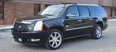 Luxurious Cadillac Escalade ESV - seats plus luggage Escalade Esv, Cadillac Escalade, Transportation Services, Cool Cars, Luxury, Vehicles, Garage, Carport Garage, Car