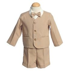 Lito Toddler Boys Khaki Formal Wear Short Suit Set 3T lito. $45.49