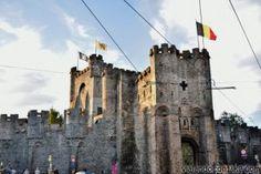 Castillo de los Condes de Flandes.  Gante (Bélgica)