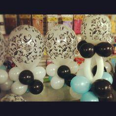 damask baby shower ideas | Damask printed Latex. #Babyshower