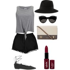 . by rileyschulz on Polyvore featuring polyvore, fashion, style, Vero Moda, Boohoo, Office, Michael Kors, Maison Michel, Yves Saint Laurent and NYX