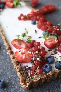 Citroen-yoghurttaart met pecanbodem, Gezonde taarten, Beaufood recepten, Glutenvrije taarten, Suikervrije taarten, Gezonde kwarktaart, Gezonde foodblogs