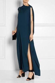 By Malene Birger | Niccala silk-georgette gown | NET-A-PORTER.COM