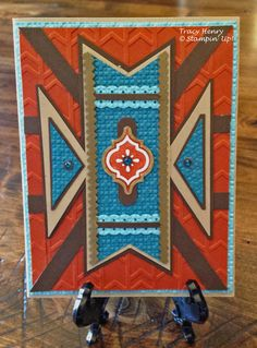 hand crafted card from 3 Boy Mom Stamps: Aztec Southwest Card ... luv the colors ... Stampin' Up!