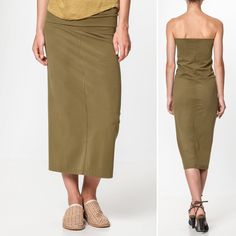 Humanoid Fitted Skirt or Dress in Olive €186