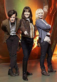 Matt Smith, Elisabeth Sladen and Katy Manning in The Sarah Jane Adventures - Radio Times