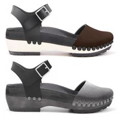 Mohop Low Clog with Ankle Strap