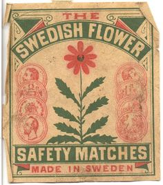 Made in Sweden. The Swedish Flower series.