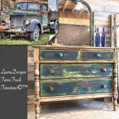Antiquedresser patina patina truck FarmTruck rusty FarmTruck painteddresser paintedfurniture furniture makeover how to paint furniture DIY art dresser antiquefurniture vintage farmhouse farmhousefurniture French country forsale shopping online Etsy shop WWW.Etsy.com/People/LunarInteriorDesigns