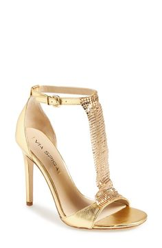 Via Spiga 'Timone' Satin T-Strap Sandal (Women) | Nordstrom