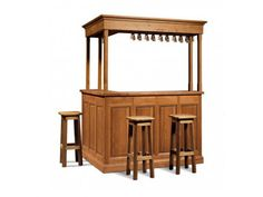 Mueble bar de madera Colección Gironde by Domus Arte