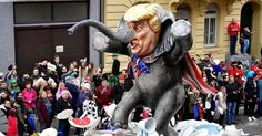 A float depicting Donald Trump on February 27, 2017 in Menz, Germany