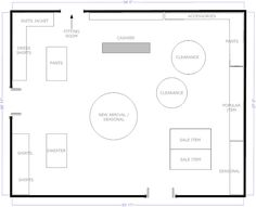 Boutique Free-Flow Store Layout