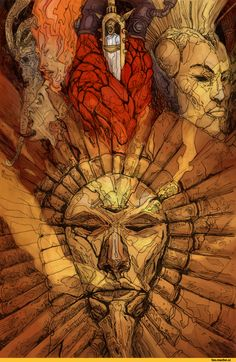 The Elder Scrolls, fandoms, zhirfrox, Dagoth Ur, Morrowind, Sotha Sil, Almsivi, TES Characters, Vivek, Almalexia