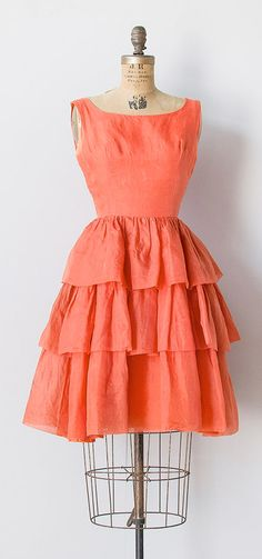 orange variety dress c.1960s | vintage 1960s dress