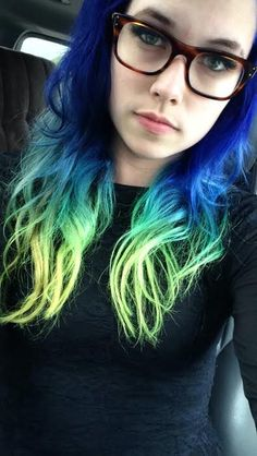New hair done myself: Special Effects; Blue Velvet, Manic Panic; Midnight Blue, Ion Brights; Sky Blue, Raw; Twisted Teal, Manic Panic; Electric Lizard bvbmayoinstrument
