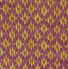 Archäotechnik - textile Fläche: Diamantköper - Rosettenköper