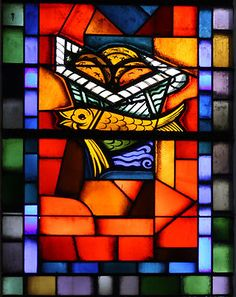 Bread & Fish Stained Glass Window Saint-Séverin Poster Print on eBay!