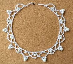 Free pattern for necklace Winter Click on link to get pattern - http://beadsmagic.com/?p=5687