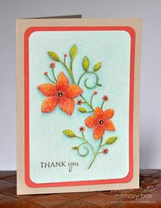 Memory Box Card - Thank You with a New Technique