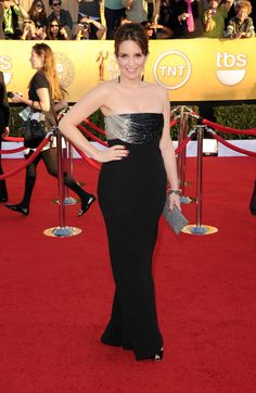 Tina Fey 18th Annual Screen Actors Guild Awards, 2012  Wearing #Versace from New York Vintage