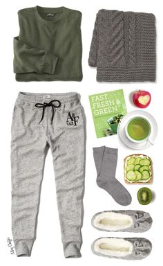 """""""Lazy Sundays"""" by mcheffer ❤ liked on Polyvore featuring Abercrombie & Fitch, Falke, Williams-Sonoma, H&M and Chronicle Books"""