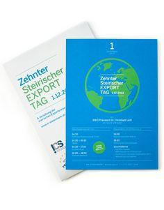 Grafische Gestaltung für den 10. Steirischen Exporttag 2014 in Graz Personal Care, Design, Graz, Self Care, Personal Hygiene